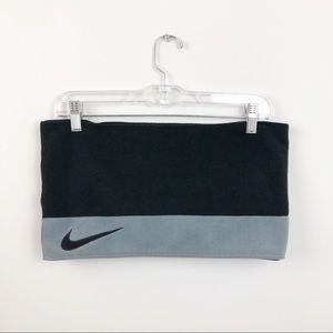 Nike Logo Fleece Unisex Scarf Grey | Black